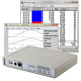 Monitoring strain guage bridges with the Microlink 851-sg