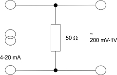 Converting a current to a voltage
