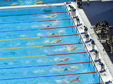 Olympic butterfly race